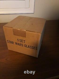 1977 Star Wars Burger King Glasses set of 4new in box, sealed unopened rare