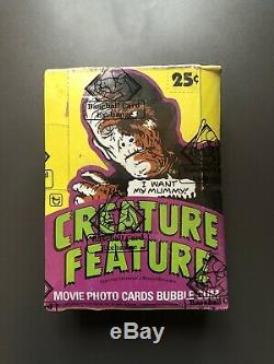 1980 Topps Creature Feature Unopened Wax Sealed Box of 36 Packs BBCE Auth