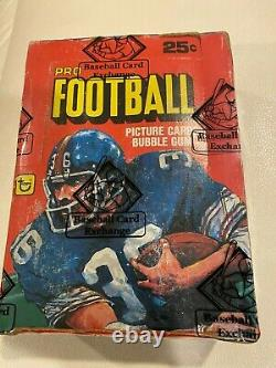 1980 Topps Football Unopened Wax Box Bbce Sealed & Authenticated