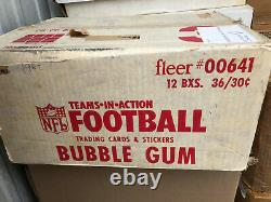 1982 Fleer Football Unopened Wax Pack Box 36 Packs straight from sealed case