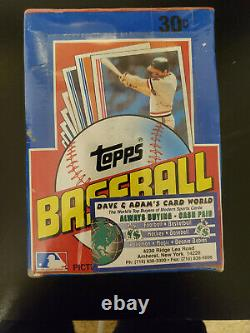 1982 Topps Baseball Unopened Wax Pack Box Sealed Beautiful Condition