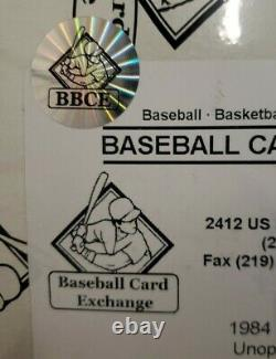 1984 Topps Baseball BBCE Sealed Wrapped Wax Box 36 Sealed Packs Clean Unopened