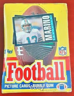1985 Topps Football Cards Unopened Wax Box BBCE Sealed 36 Packs