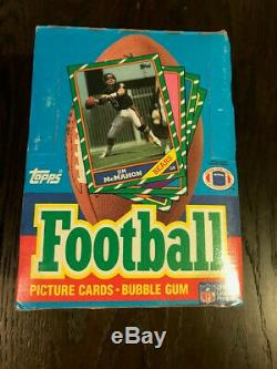 1986 Topps Football Sealed Unopened 36-count Wax Pack Box - Rice, Young rookies