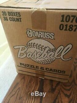1987 Donruss Baseball unopened wax case still sealed contains 20 wax boxes