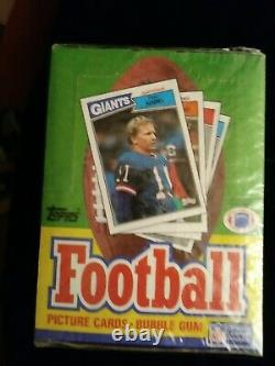 1987 Topps Football Unopened factory Sealed Wax Box