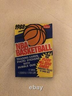 1988 Fleer Basketball Unopened Sealed Wax Pack From Box Untouched For Years