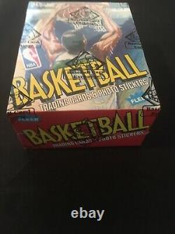 1989 Fleer Basketball Unopened Wax Box BBCE FASC From a Sealed Case