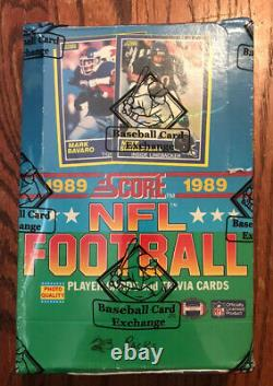1989 Score Football Wax Box 36 Unopened Packs BBCE AUTHENTICATED Sealed M296