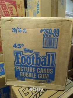 1989 Topps Football Sealed and Unopened 20 Box Case / 36 Wax Pack Per Box