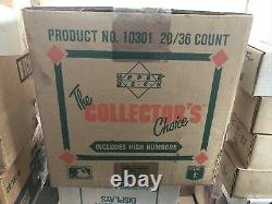 1989 Upper Deck Baseball High Series unopened sealed case with 20 boxes