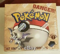 1999 Pokemon 1st Edition Fossil Booster Box Rare Sealed Unopened Pokémon Box