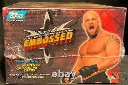 1999 Topps Wcw Embossed Wrestling Box 24 Packs Unopened Factory Sealed Auto's