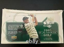 2001 Upper Deck SP Authentic Golf Cards 1 box (24 packs) unopened/sealed