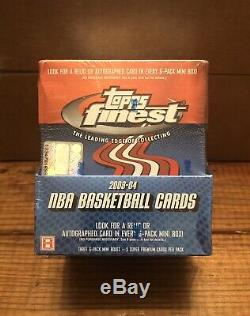 2003-04 Topps Finest Unopened Factory Sealed Hobby Box LeBron James Rookie