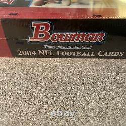 2004 Bowman Football Factory Sealed unopened box 240 Cards, 24 Packs