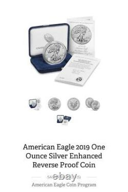 2019-S American Enhanced Reverse Proof Silver Eagle OGP Sealed Box Unopened
