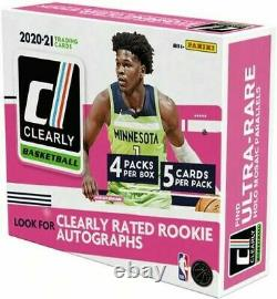 2020-21 Panini Clearly Donruss Basketball Factory Sealed Unopened Hobby Box NEW