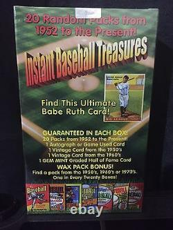 Instant Baseball Treasures Sealed Box 20 Unopened Packs + Auto/jersey +more