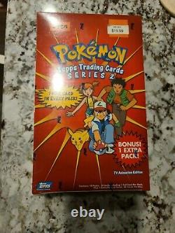 New Vintage Pokemon Topps Series 2 Hobby Booster Box Unopened Sealed Rare