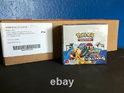 Pokemon Evolutions XY Factory Sealed Unopened Case of 6 English Booster Boxes