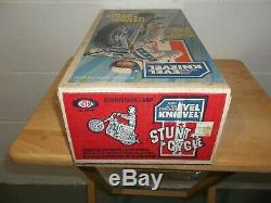 Vintage 1970s EVEL KNIEVEL Stunt cycle Set New In Box Sealed Unopened Ideal Toys